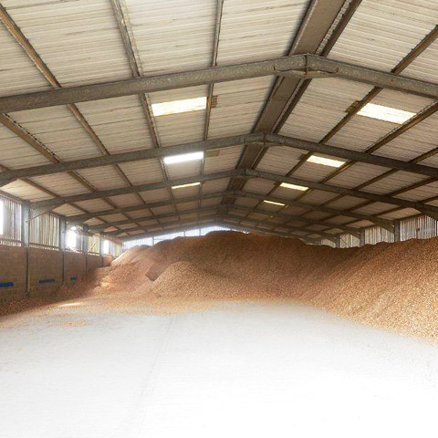 Wood chippings as biomass fuel