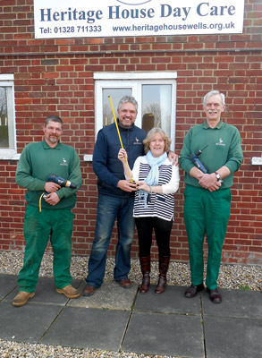 Holkham supports local charities