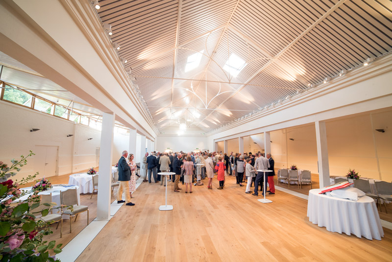 The new Lady Elizabeth Wing, a dedicated events venue at Holkham in north Norfolk