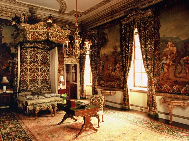 The Green State Bedroom in Holkham Hall