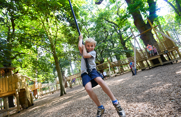 The Woodland Adventure Play Area for children at Holkham
