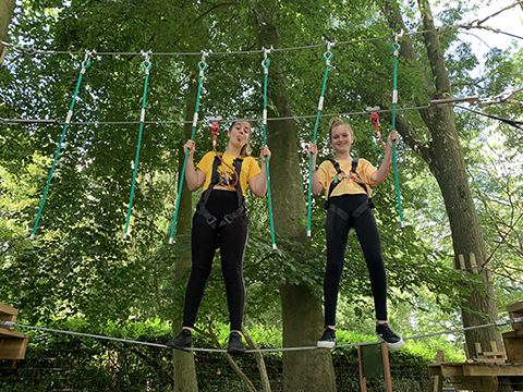 Family fun in Norfolk at Holkham's  Ropes Course adventure attraction.