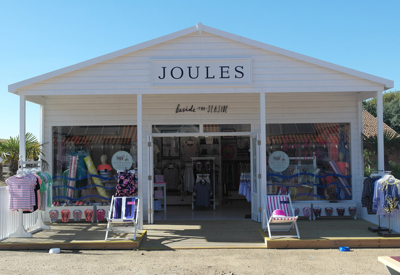 The new Joules store at Wells beach, North Norfolk