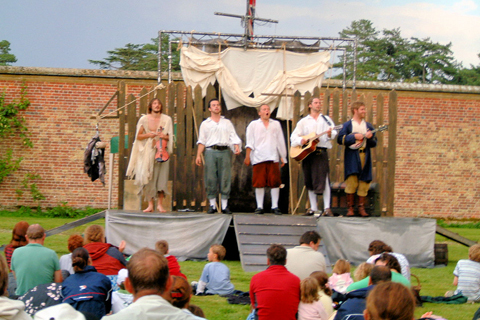 The Midnight Gang, Holkham Hall, Wells next the Sea, Norfolk, North Norfolk | What better setting to enjoy a summer evening's theatre than our beautiful walled gardens.  | outdoor theatre