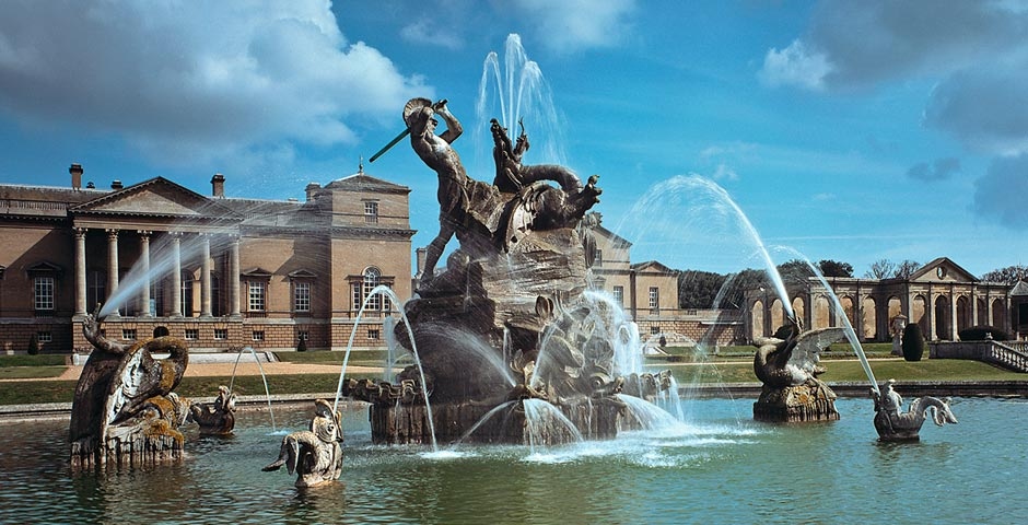 The Grade II listed fountain, to the south of the Holkham Hall, depicting Perseus and Andromeda