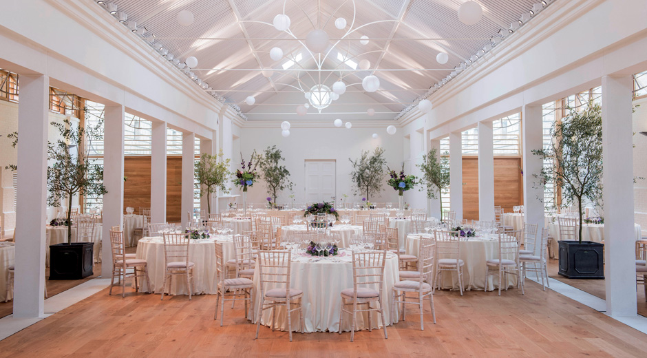 Interior of The Lady Elizabeth Wing, the new dedicated events venue at Holkham Hall, Norfolk
