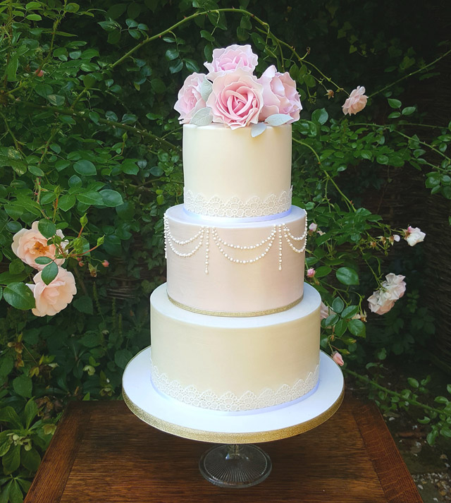 As part of our luxury wedding package, couples will receive a beautiful three tiered wedding cake with handcrafted sugar flowers to match your colour scheme.